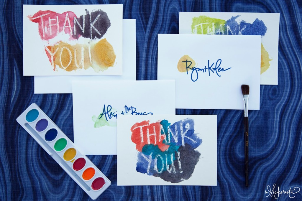 Making Kid S Thank You Notes The Makerista