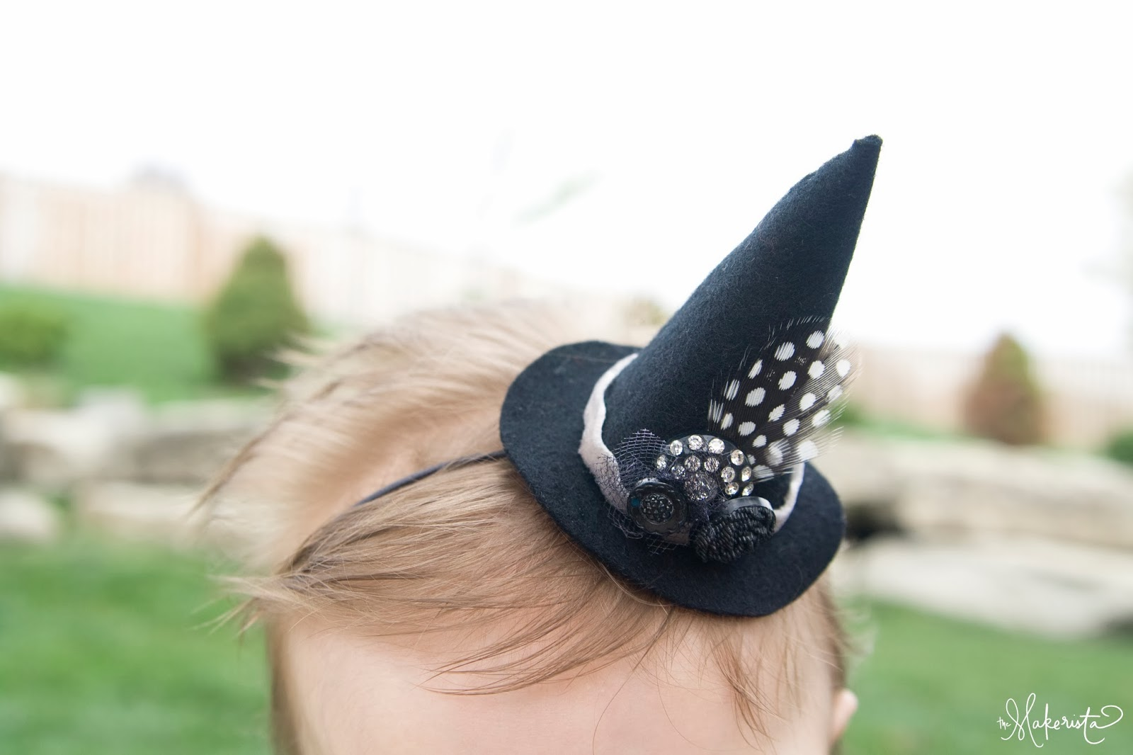 last minute costume idea  witch hat headband tutorial
