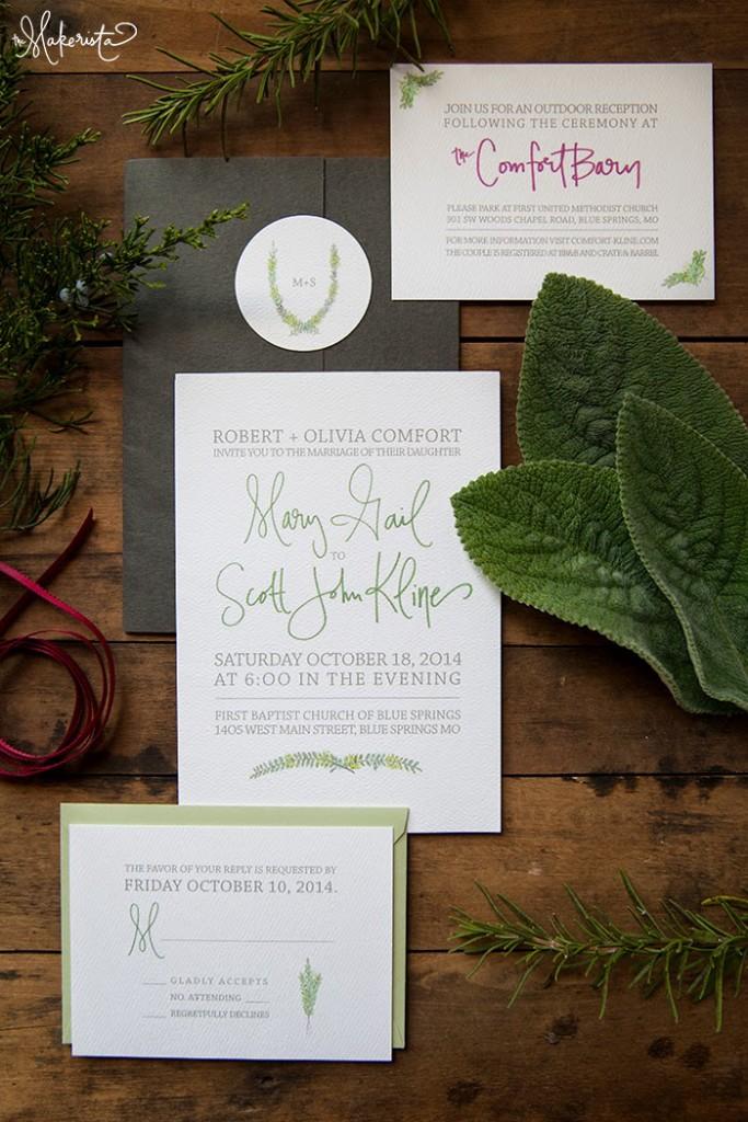 A Handmade Wedding Invitation - The Makerista