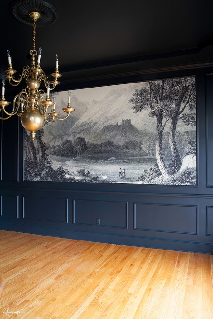 The Dining Room: Finding and Hanging the Mural - The Makerista