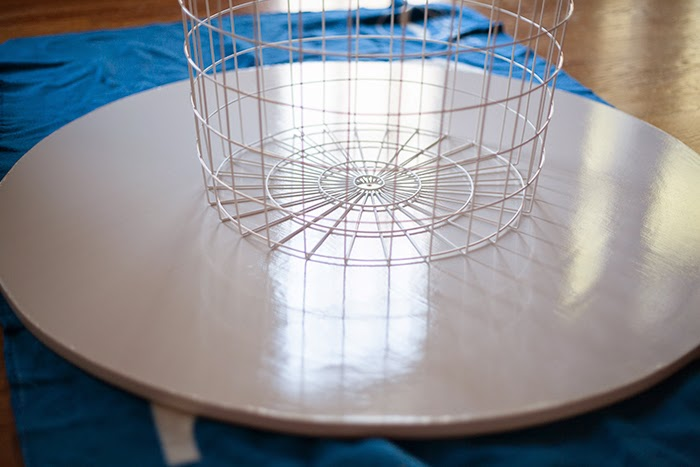 Then We Centered The Basket On The Top S Underside