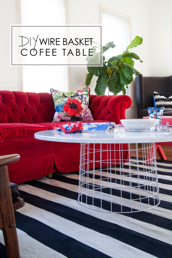 Diy Wire Basket Coffee Table The Makerista