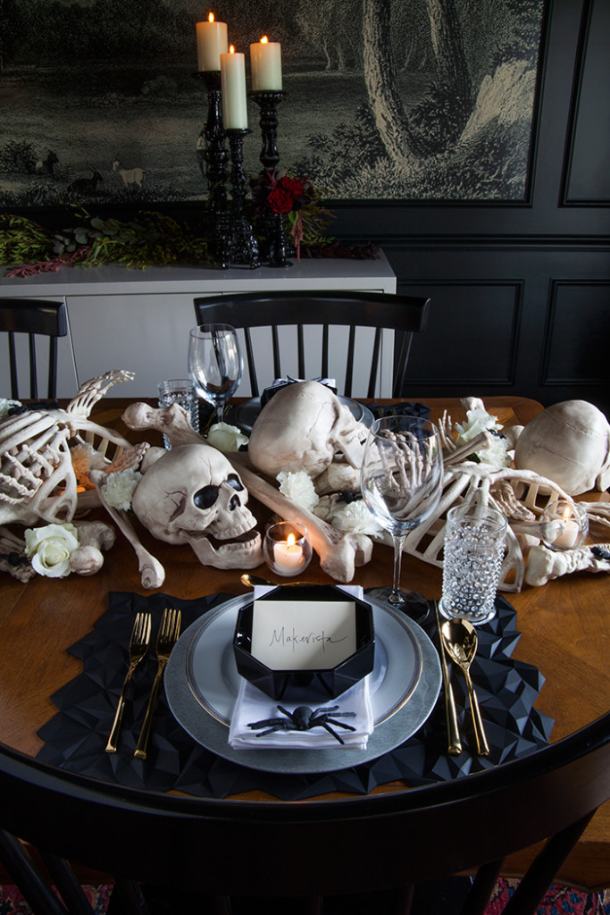A Spooky Supper Setting The Makerista
