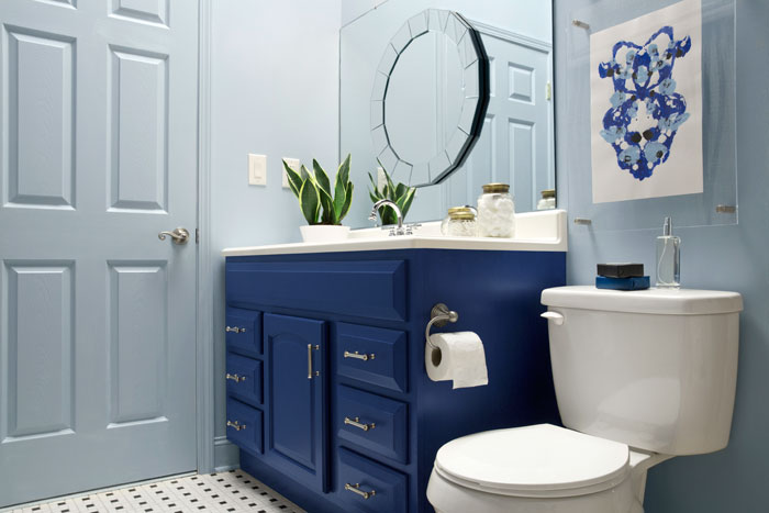 Lastest Modernize A Builder Grade Vanity With Furniture Feet Diy Is Creative