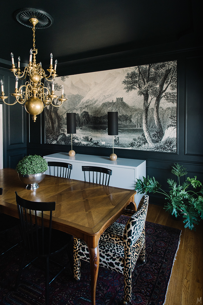 The finishing touches on the dining room a giveaway for Black dining room walls
