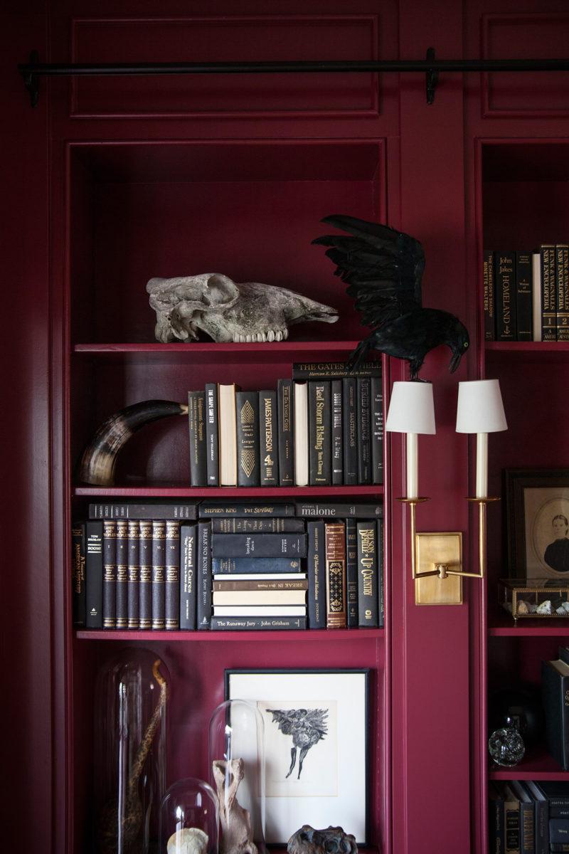 the-makerista-halloween-curiosities-bookshelves